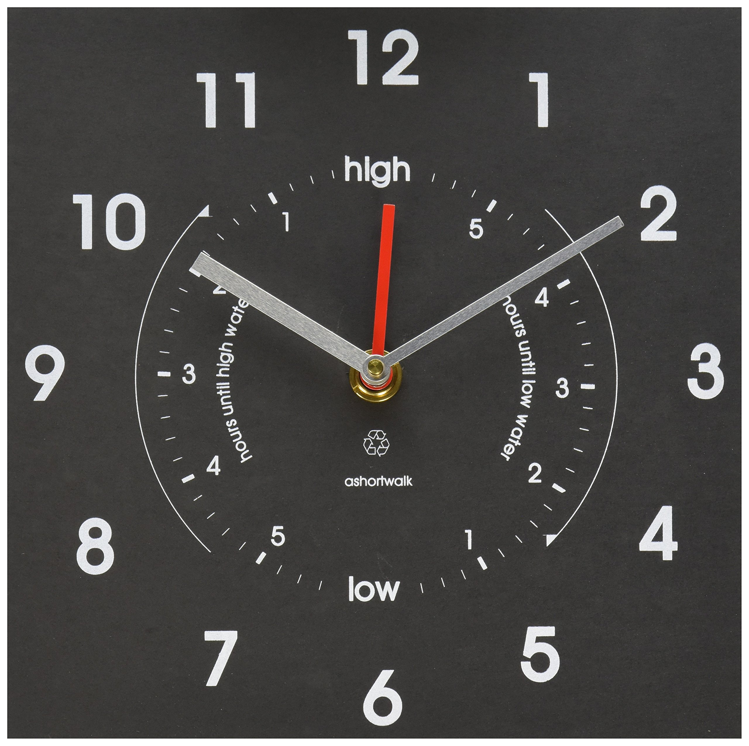 Bosmere W420 Eco Time and Tide Indoor/Outdoor Recycled Clock, Black by Bosmere
