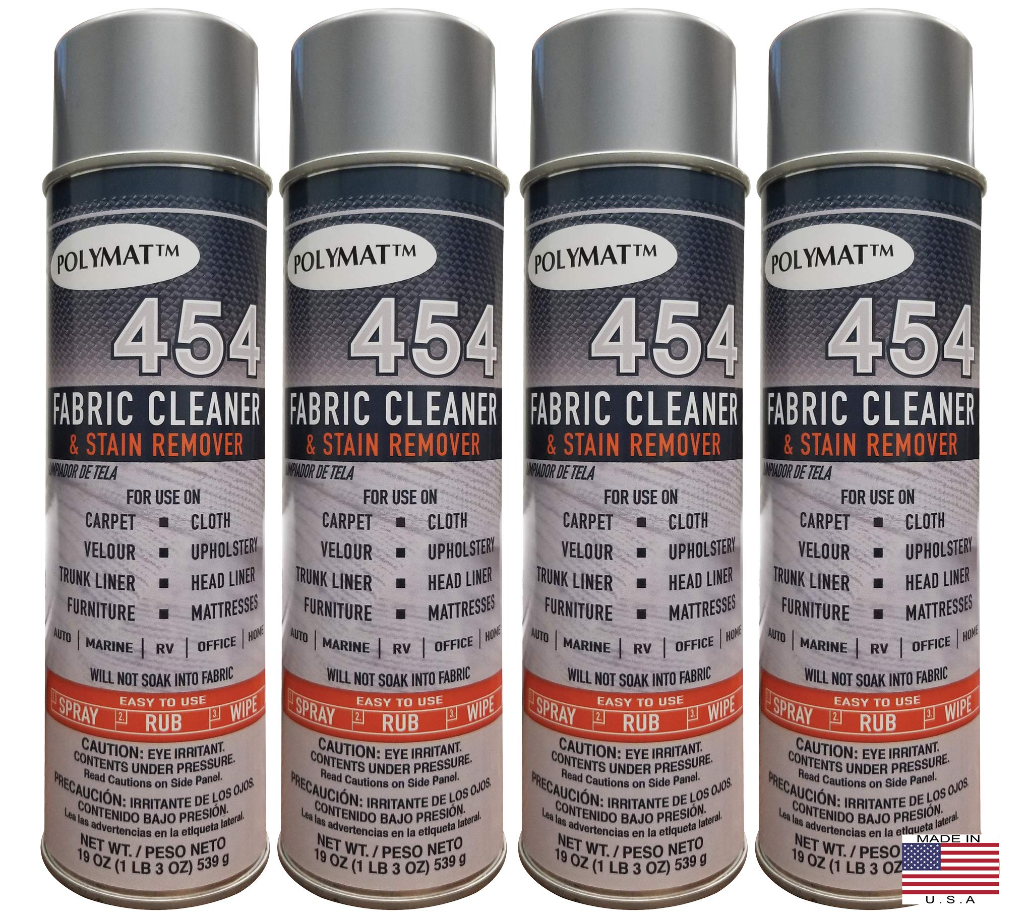 Polymat QTY4 454 Fabric Cleaner & Stain Remover Detailing Commercial RV Home