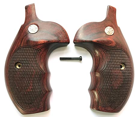 Amazon.com : Smith & Wesson S&W K/L/X Frame Grips Rosewood Checkered ...
