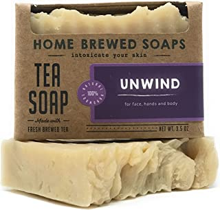 product image for Tea Soap, Vegan Soaps for Women, Zero Waste Soap, Unwind - 3.5 oz - Home Brewed Soaps