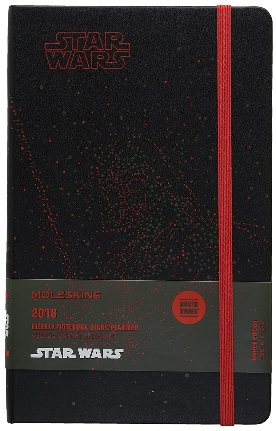 Moleskine Limited Edition Star Wars, 12 Month Weekly Planner, Large, Darth Vader (5 x 8.25)