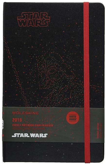 Moleskine Agenda semanal 2018, edición limitada Star Wars Darth Vader, de 12 meses, tamaño grande y tapa dura