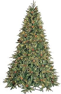 gkibethlehem lighting 9 foot pepvc christmas tree with clear mini lights amazoncom gki bethlehem lighting pre lit