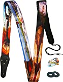 Surreal Art Guitar Strap Salvador Dali Inspired Includes 2 Strap Locks & 2 Matching Picks. Adjustable Polyester Guitar Strap - Cool Gift For Guitarist - Suitable For Bass, Electric & Acoustic
