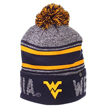4d4e0a13cf2142 Amazon.com: Zephyr Hats University of West Virginia Orbit Knit Hat ...
