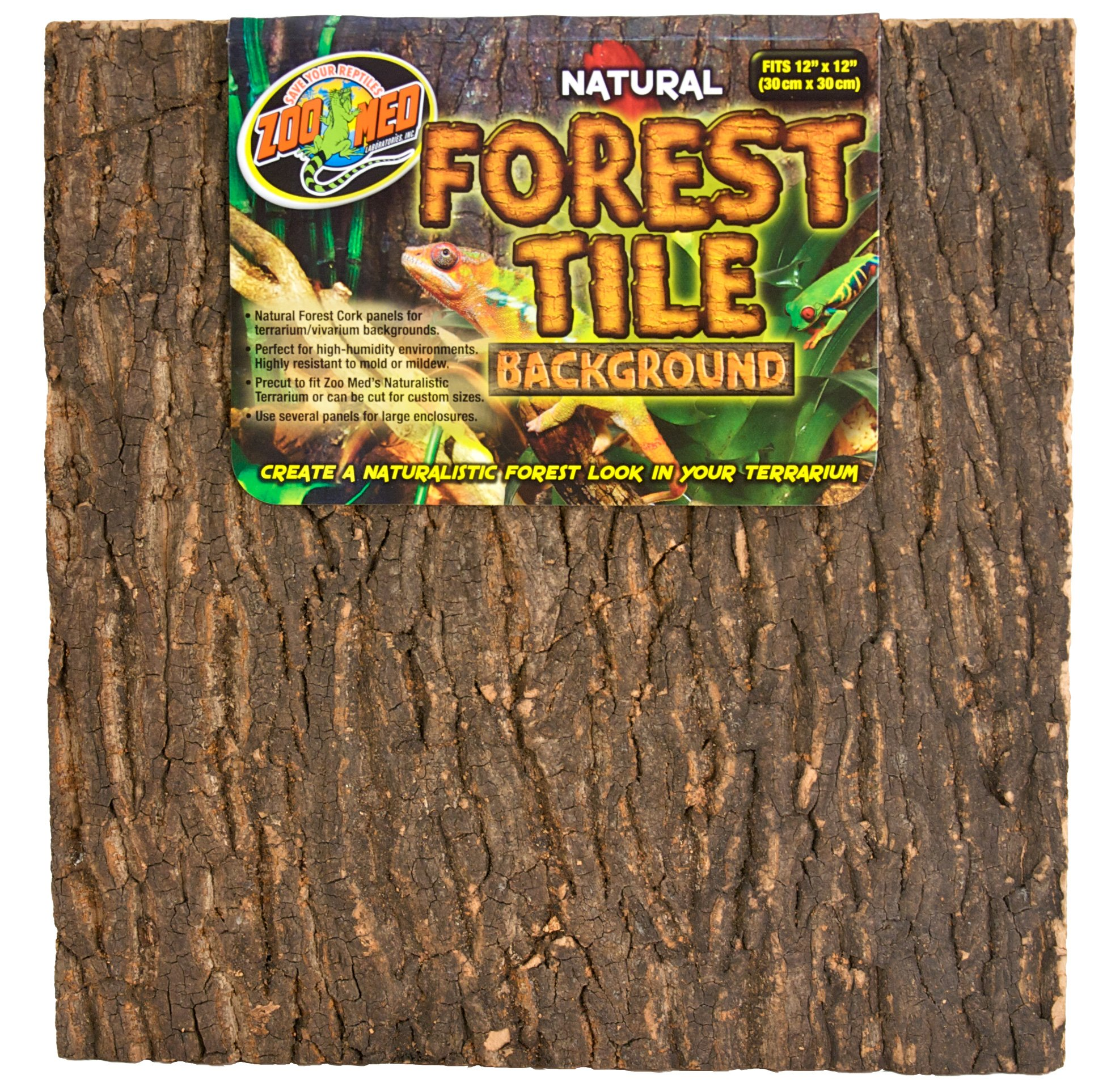 Zoo Med Natural Forest Cork Tile, Small, 12 x 12-Inches