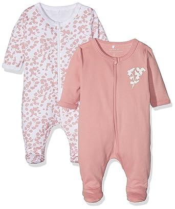 eb5c34c6b Name It Baby Girls  Sleepsuit Pack of 2  Amazon.co.uk  Clothing