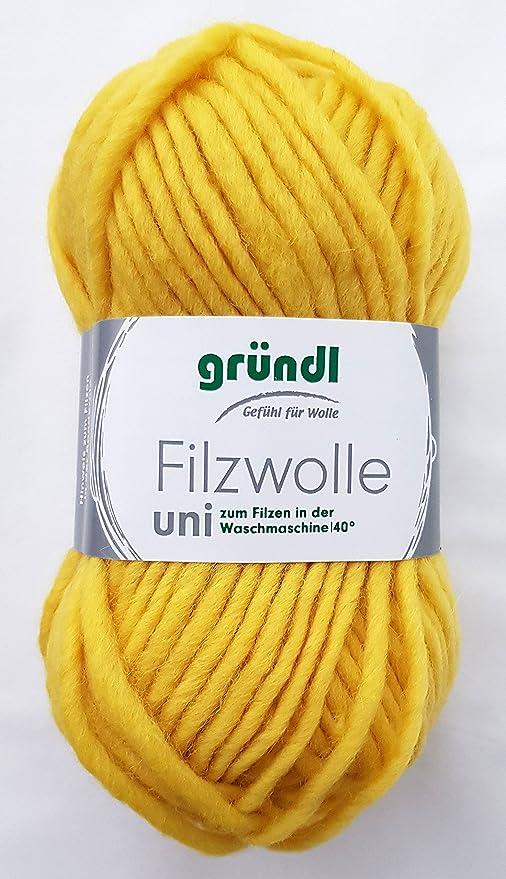 enjuague de fieltro de lana uni Fb, 60 - de limón, de lana para ...