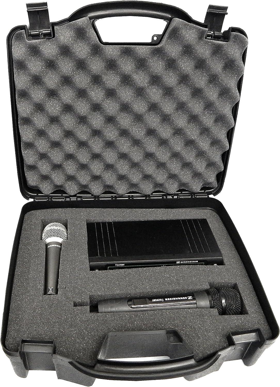 Casematix Wireless Microphone Case - Hard Shell Mic Case with Customizable Foam
