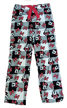 7b6c0cf3dd Amazon.com  Disney Minnie Mouse Superminky Fleece Sleep Pants - X ...