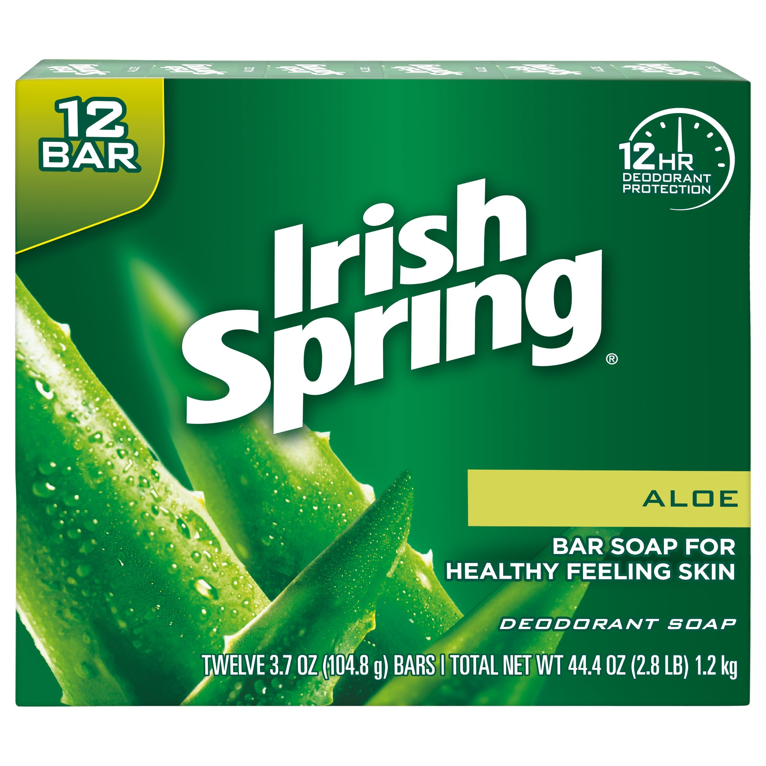 Irish Spring Aloe Vera Bar Soap - 72 count