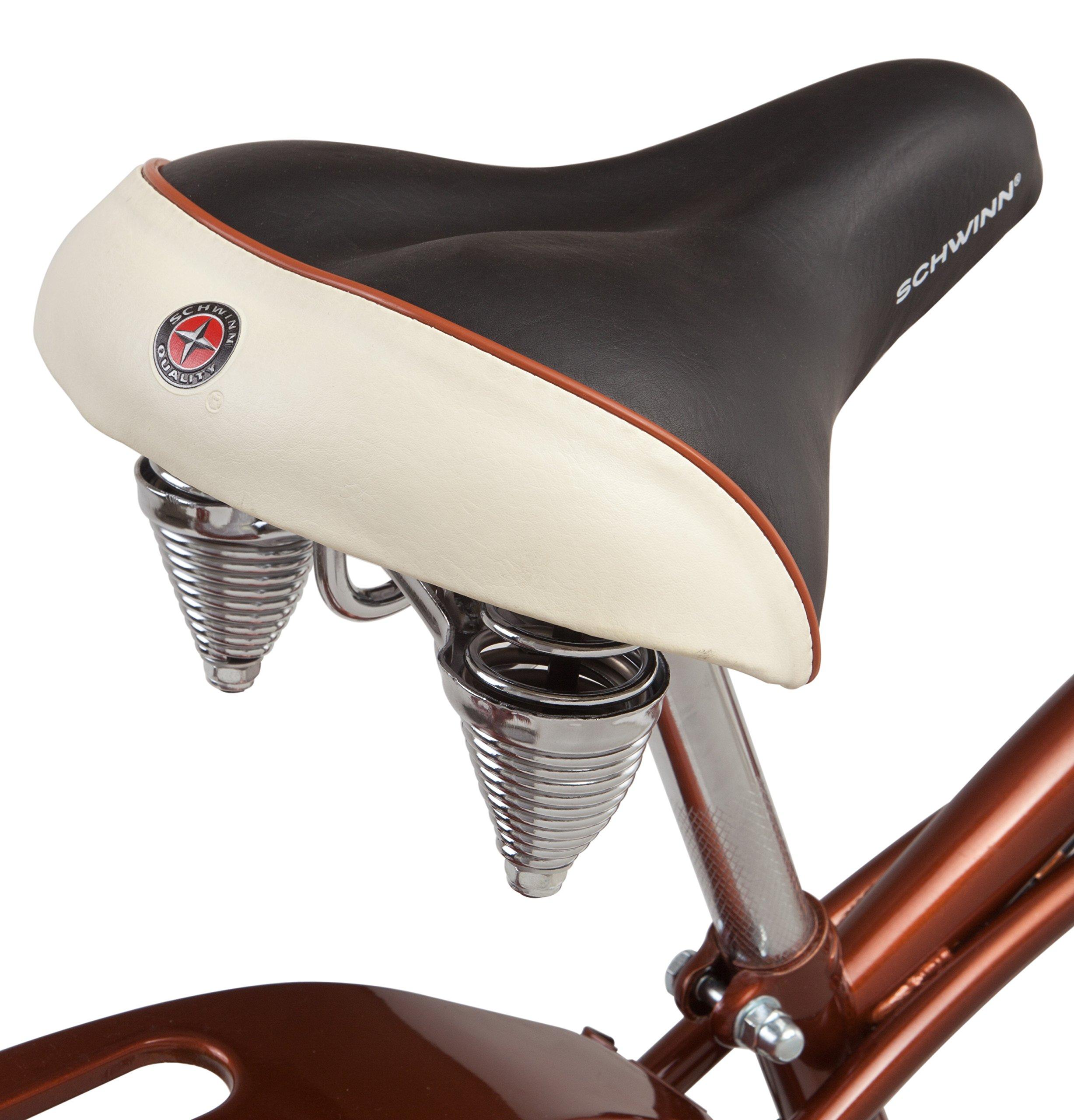Schwinn Men's Sanctuary 7-Speed Cruiser Bicycle (26-Inch Wheels), Cream/Copper, 18 -Inch by Schwinn (Image #4)