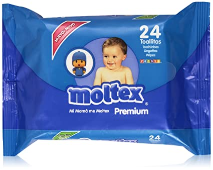 Moltex - Premium - Toallitas para bebé, diseño Pocoyó - 24 unidades