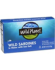 Wild Planet Wild Sardines in Water with Sea Salt - 4.4oz Can (Pack of 12)