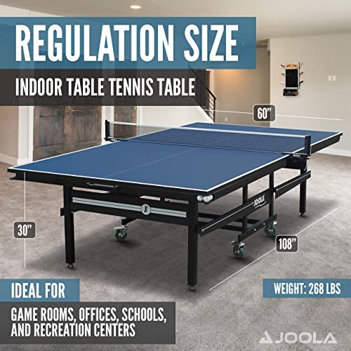 JOOLA Signature Pro Tournament-Quality Indoor Table Tennis Table w/Professional Ping Pong Net and Post Set Review