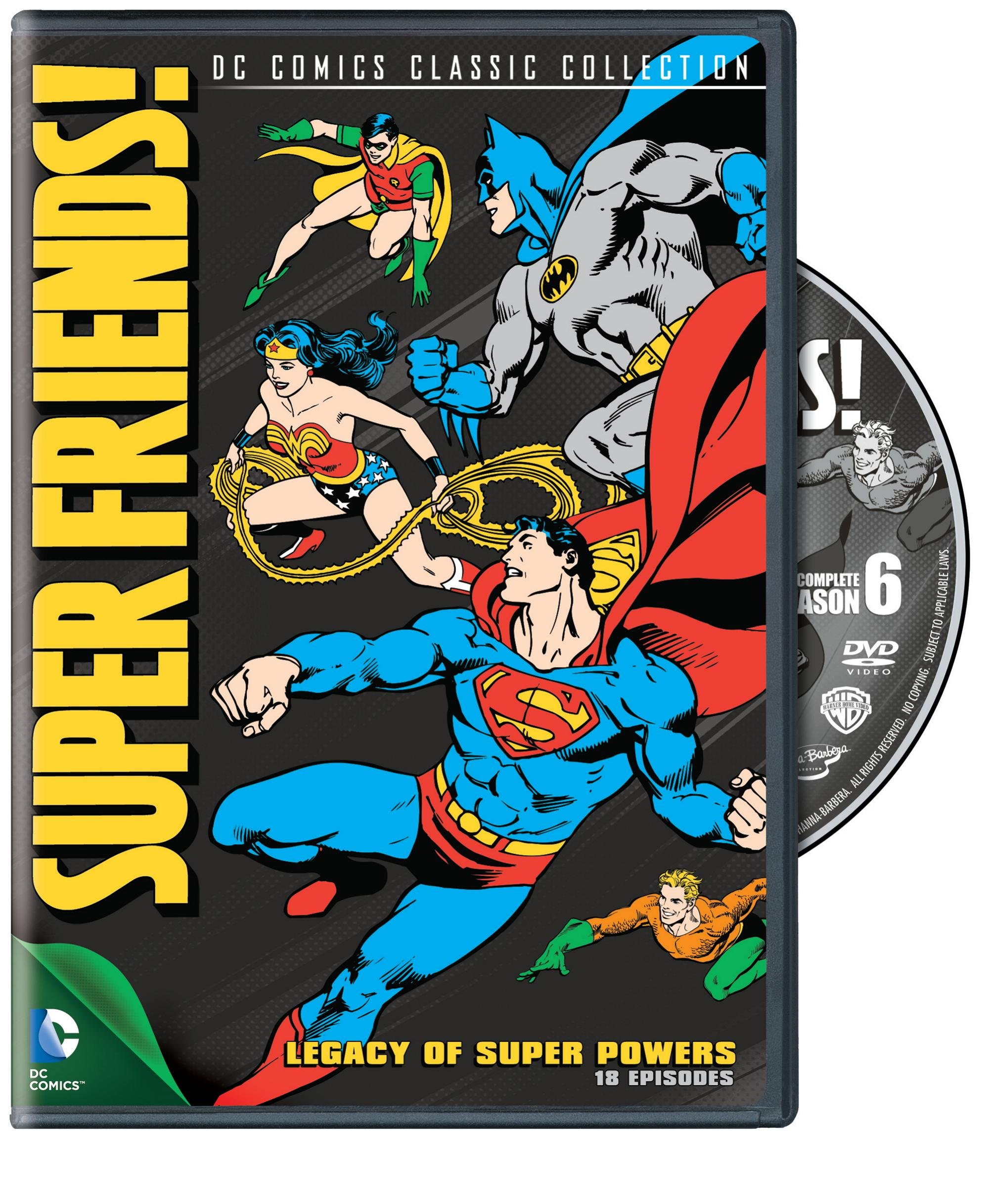 DVD : Super Friends: Legacy of Super Powers - Season 6 (Full Frame, Digipack Packaging)