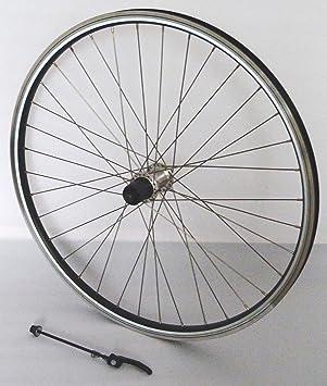 66.04 cm rueda de bicicleta rueda trasera reflex llanta de cámara hueca negro Shimano RM30 plata para V-brakes/freno de acero inoxidable de plata: ...