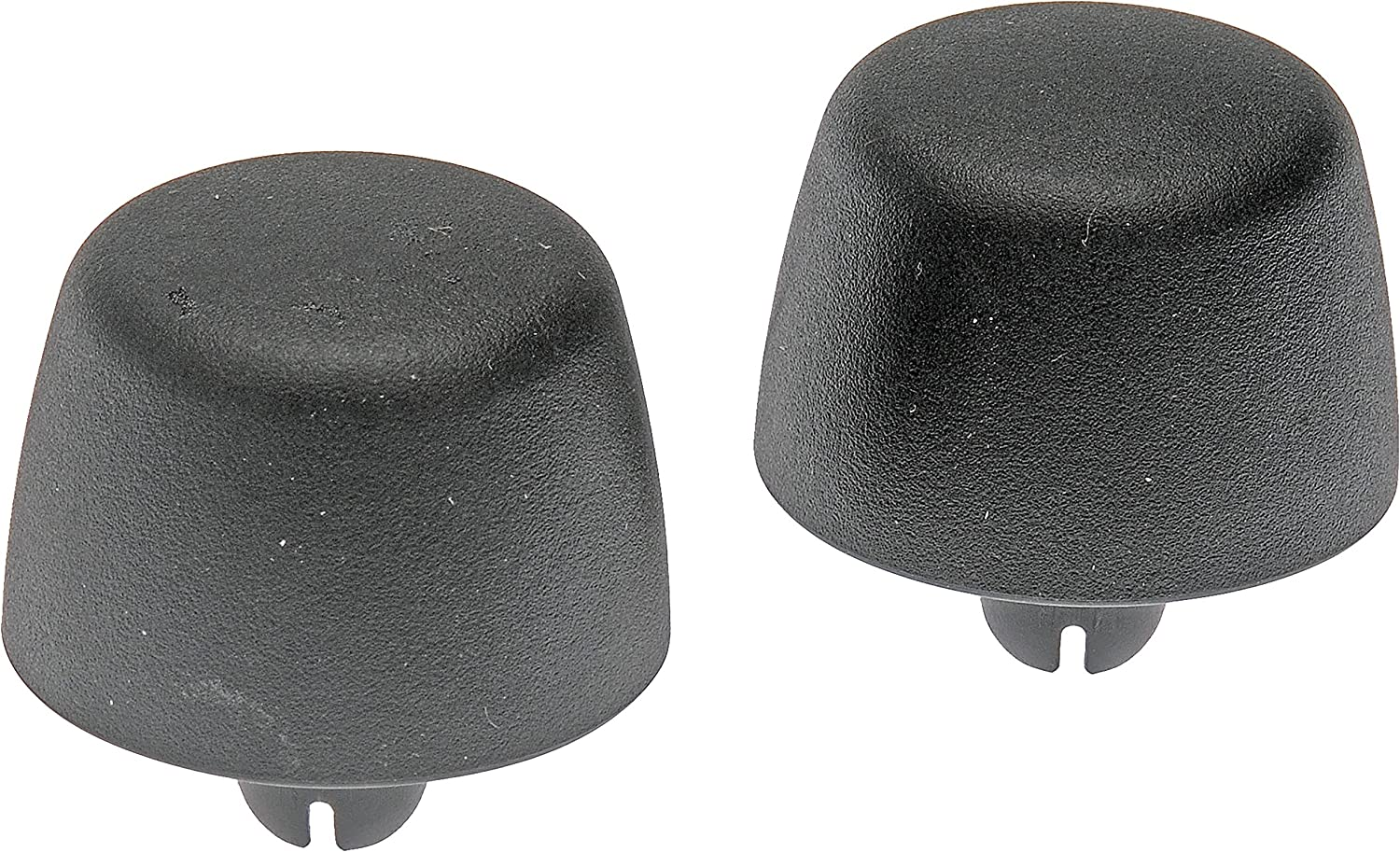 Hydraker 2Pcs Hood Bumper Stops Fit for Jeep Wrangler 1987-2018 Cushion Stoppers Black Rubber