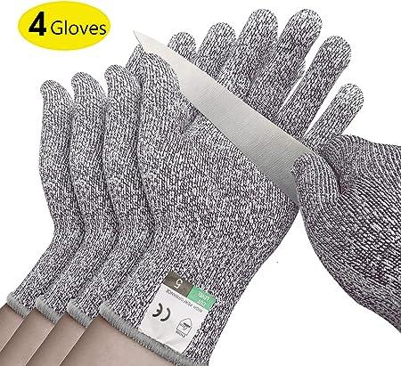 Amazon.com: 2 pares de guantes resistentes a cortes ...
