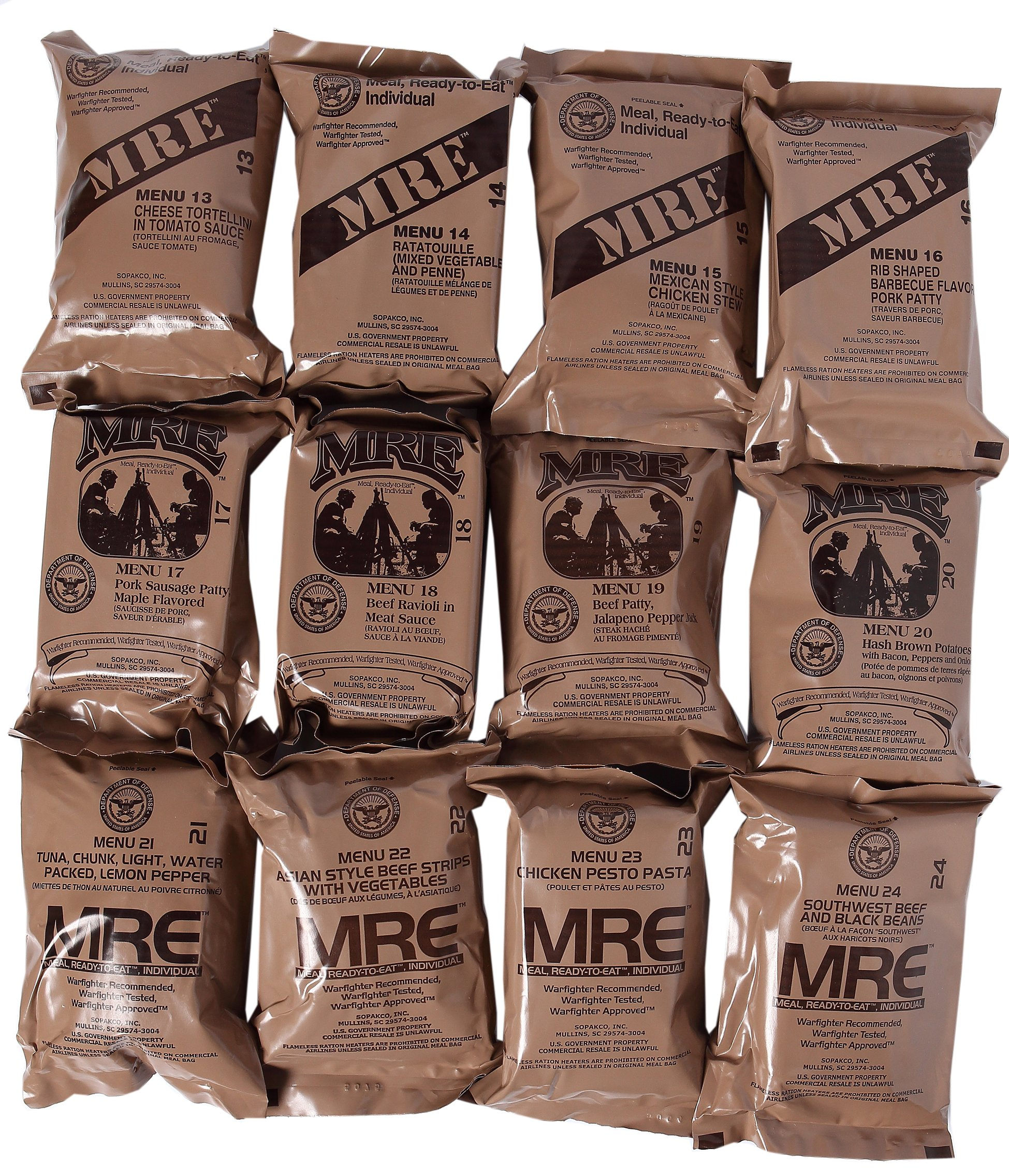 Western Frontier MRE 2019 Inspection Date Case A and Case B Bundle, 24 Meals Packed in 2016. Military Surplus Meal Ready to Eat. by Western Frontier (Image #3)