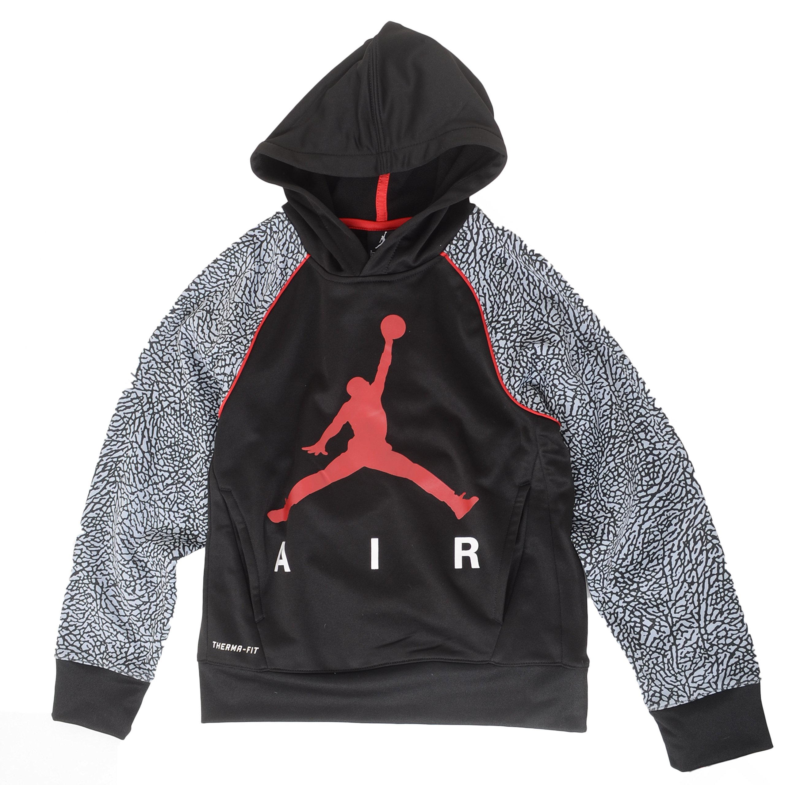 Jordan Big Boys Elephant Print Hoodie (M(10-12YRS), Black) by NIKE