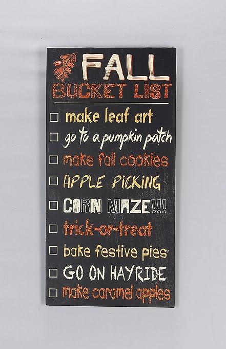 Amazon Com Youngs Fall Decor Fall Harvest Bucket List Subway Art