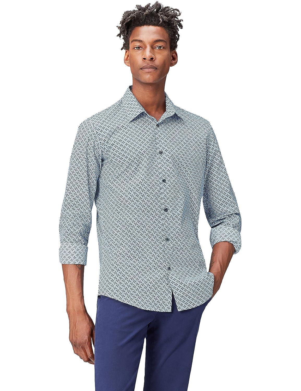FIND Camicia con Stampa Geometrica Uomo PRO002011B170217