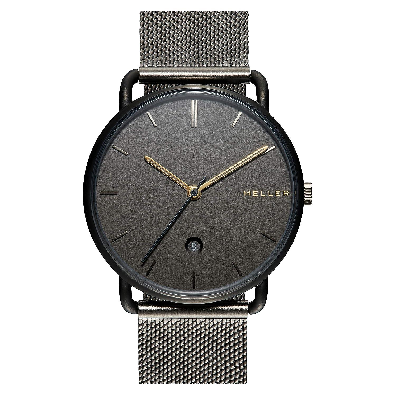Meller denka nag Grey Reloj para Unisex Analógico de Cuarzo japonés con Brazalete de Acero Inoxidable 3GG-2GREY: Amazon.es: Relojes