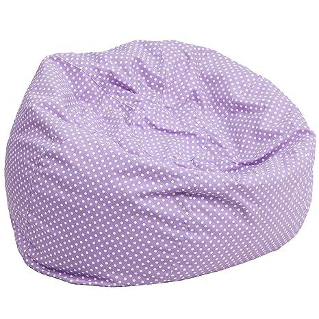 Astonishing Flash Furniture Oversized Lavender Dot Bean Bag Chair Pdpeps Interior Chair Design Pdpepsorg