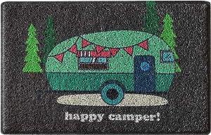 Aucuda Happy Camper Door Mat,Outdoor Door Mat,RV Front Door Mats Outdoor,24