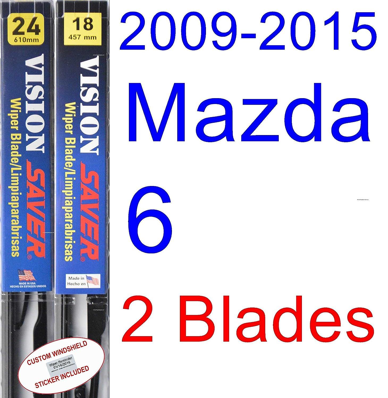 Amazon.com: 2009-2015 Mazda 6 Wiper Blade (Driver) (Saver Automotive Products-Vision Saver) (2010,2011,2012,2013,2014): Automotive
