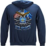 Erazor Bits air Force Hoodie for Men   Double Flag Air Force Hooded Sweat MM2150SW