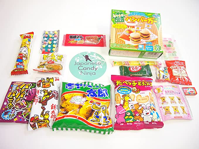 16 Japanese Candy and Snack Okashi Set with original ...