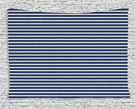 Morbidissima Coperta In Pile Blu Navy Yacht A Tema Marino Corda A