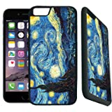[TeleSkins] - iPhone 7 / iPhone 8 Rubber TPU Case -vincent van gogh the starry night - Ultra Durable Slim Fit, Protective Plastic with Soft RUBBER TPU Snap On Back Case / Cover. Fits (4.7 inch only)