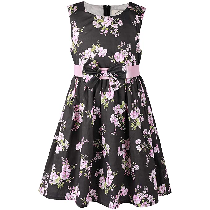 1d0adb00425b3 Flofallzique Floral Girls Sundress Vintage Cotton Casual Toddler Sundress  Baby Clothes