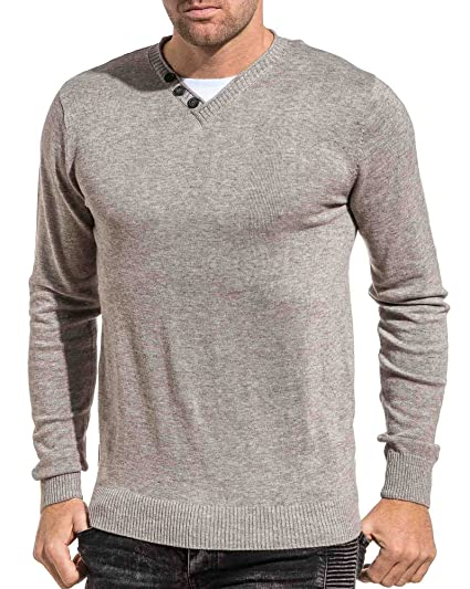 V Fin 74 Couleur Gris Taille Homme Pull Deeluxe Col qSf6vY6x