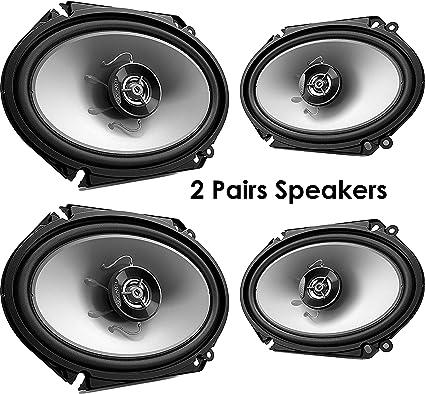 """KENWOOD KFC-C6865S 6/""""x8/"""" 2-Way Car Audio Speakers with 4 Speaker Adapters"""