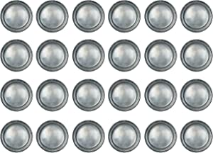 Beistle 24 Piece All Occasion Disposable Pewter Paper Plates Medieval Party Supplies – Pirate And Halloween Tableware, 9