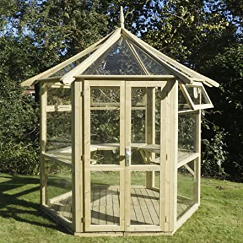 Premium Pavilion Glass House Lemon Pavilion: Amazon co uk: Garden
