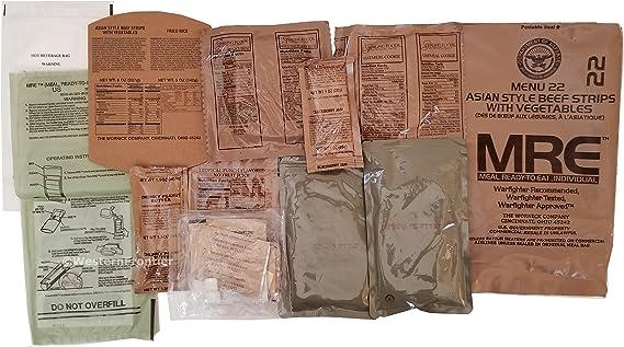 Western Frontier Ultimate MRE, paquete con fecha impresa en cada ...