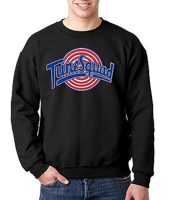 88e99c1e6160 New Way 487 - Crewneck Tune Squad Space Jam Basketball Team Unisex Pullover  Sweatshirt Small Black