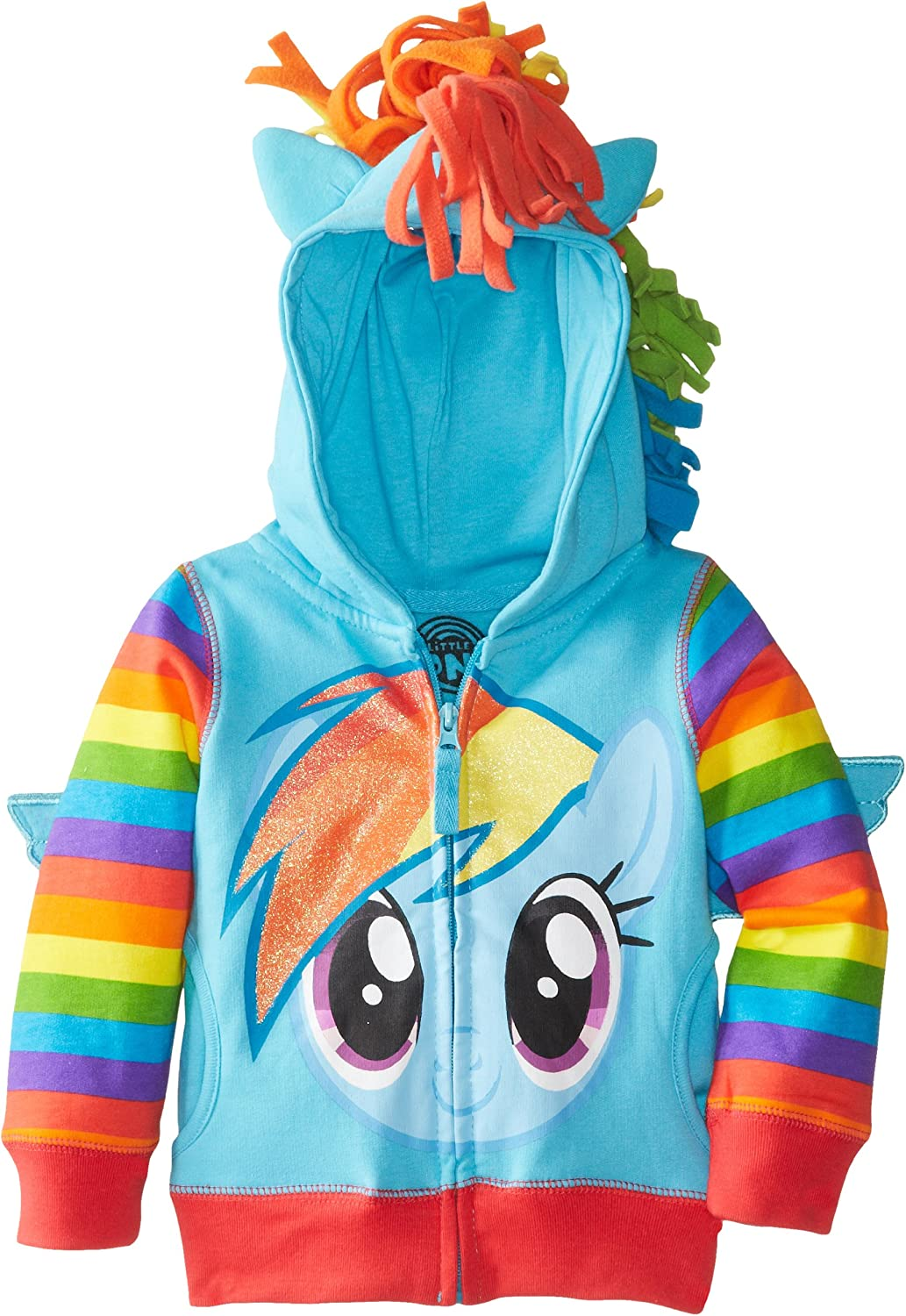 My Little Pony Little Girls Zip-up Hoodie: Clothing