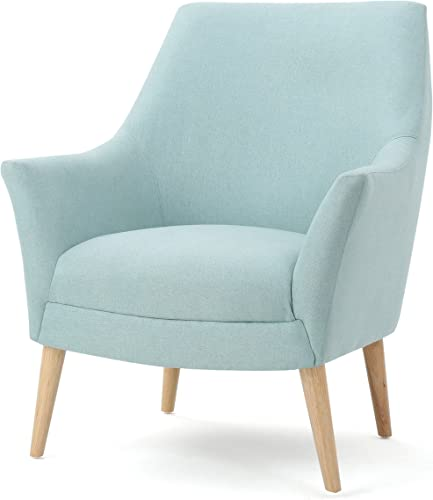 Christopher Knight Home Norre Mid-Century Modern Fabric Club Chair in Sky, light Blue