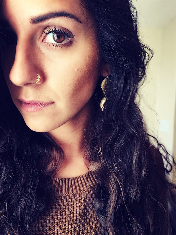 Amazon Com Swarovski Crystal Indian Nose Ring Septum Handmade
