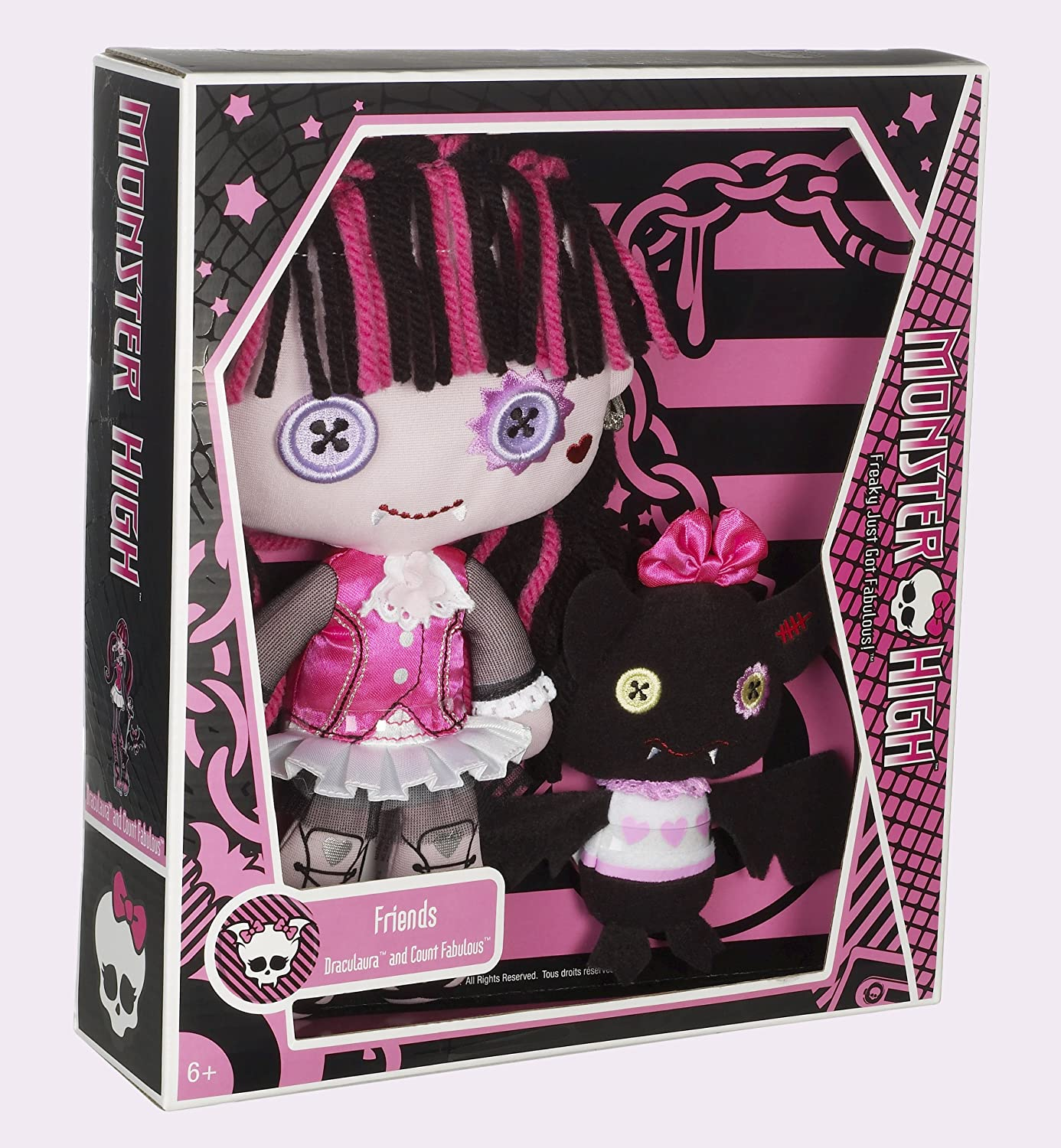 Amazoncom Monster High Friends Plush Draculaura Doll Toys  Games