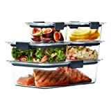 Amazon Price History for:Rubbermaid Brilliance Food Storage Container, 10-Piece Set, 100% Leak-Proof, Plastic, Clear