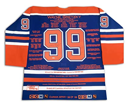 brand new e873a 8df55 Wayne Gretzky Career Jersey - Signed - LTD ED 99 - Edmonton ...