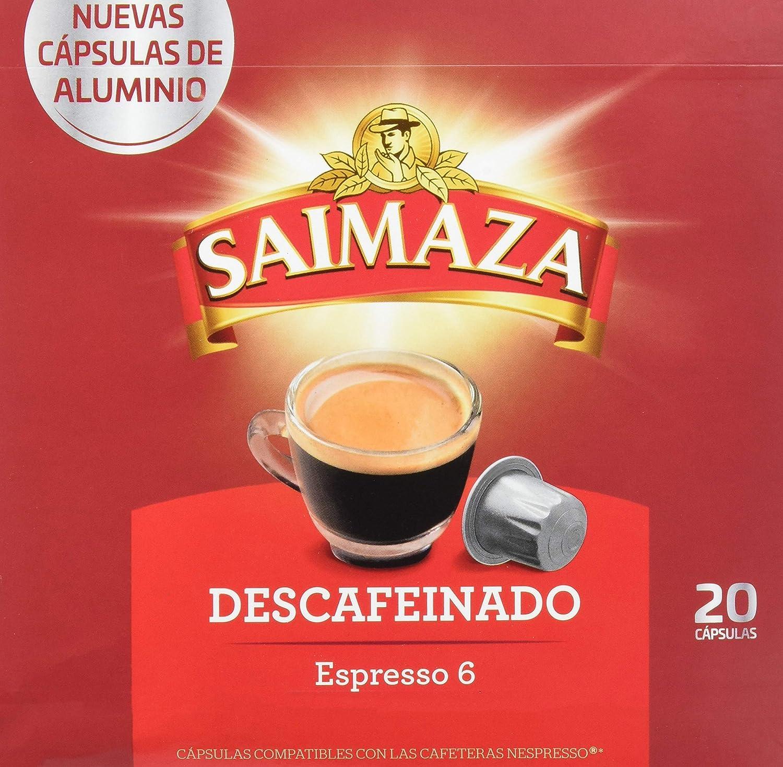 Café Saimaza Espresso Descafeinado - 20 Cápsulas: Amazon.es ...