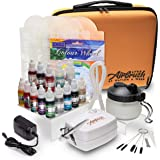 Airbrush Cake Decorating Kit - Watson and Webb Little Airbrush Including 13 Colors, Stencil, 1 x Airbrush Cleaning…